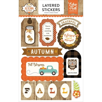Echo Park A PERFECT AUTUMN Layered Stickers APA132025