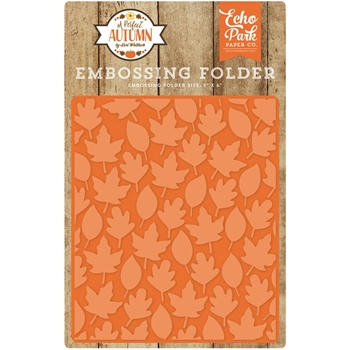 Echo Park AUTUMN LEAVES Embossing Folder APA132032