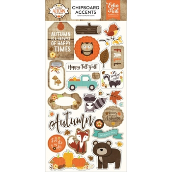 Echo Park A PERFECT AUTUMN Chipboard Accents APA132022