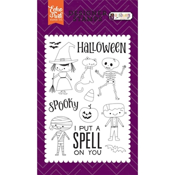 Echo Park HALLOWEEN COSTUMES Clear Stamps HT133043