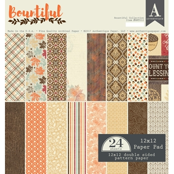 Authentique BOUNTIFUL 12 x 12 Paper Pad BNT012