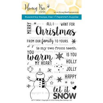 Honey Bee LET IT SNOW Clear Stamp Set HBST43