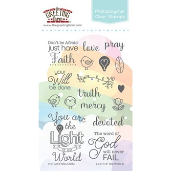 The Greeting Farm LIGHT OF THE WORLD Clear Stamps TGF336