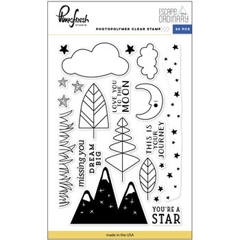 Pinkfresh Studio ESCAPE THE ORDINARY Clear Stamp Set PFRC301317