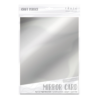 Tonic CHROME SILVER Mirror Card Cardstock 9452E