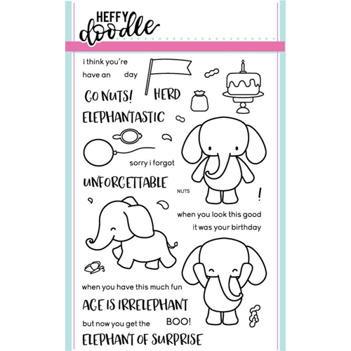 Heffy Doodle ELEPHANT OF SURPRISE Clear Stamps HFD0001 Preview Image
