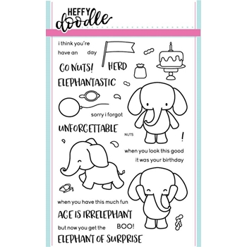 Heffy Doodle ELEPHANT OF SURPRISE Clear Stamps HFD0001
