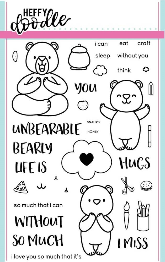 Heffy Doodle UNBEARABLE WITHOUT YOU Stamps HFD0003