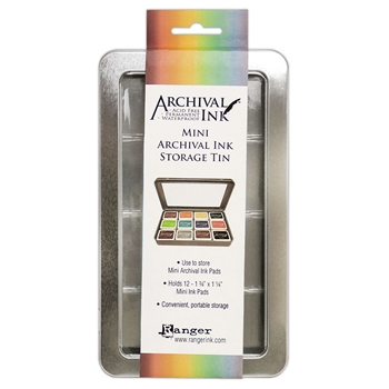 Ranger Mini Archival Ink Pads STORAGE TIN AIMA58434