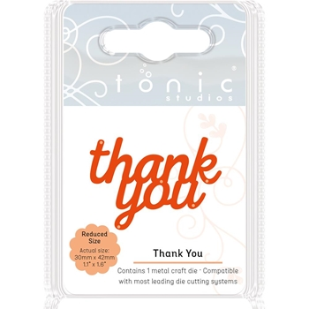 Tonic THANK YOU Miniature Moments Sentiment Die 1716E