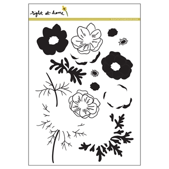 Right At Home ANEMONE Clear Stamp ANJULY17