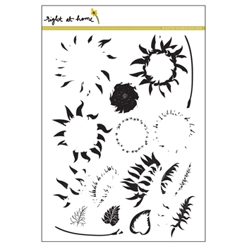 Right At Home SUNFLOWER Clear Stamp SFJULY17
