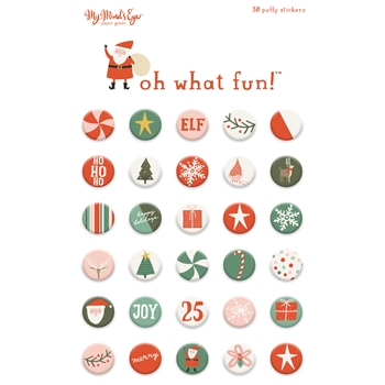 My Mind's Eye OH WHAT FUN Puffy Stickers FNC117