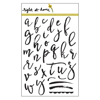 Right At Home BRUSHSTROKE ALPHABET LOWERCASE Clear Stamp BLOJULY17