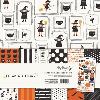 My Mind's Eye TRICK OR TREAT 12 x 12 Paper And Accessories Kit HLW110