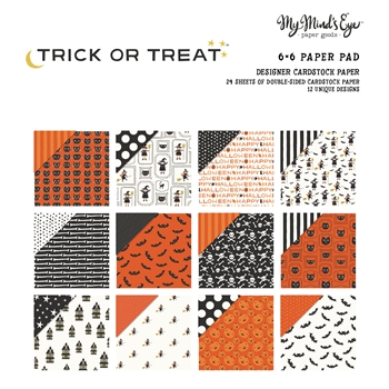 My Mind's Eye 6 x 6 TRICK OR TREAT Paper Pad HLW109