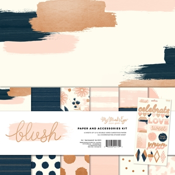 My Mind's Eye BLUSH 12 x 12 Paper And Accessories Kit BLH110