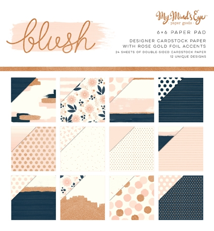 My Mind's Eye Blush 6x6 Paper Pack
