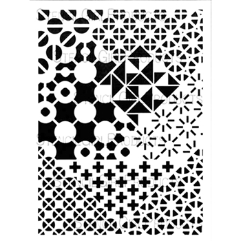 StencilGirl CRAZY QUILTS BOLD AND BEAUTIFUL 9x12 Stencil L568