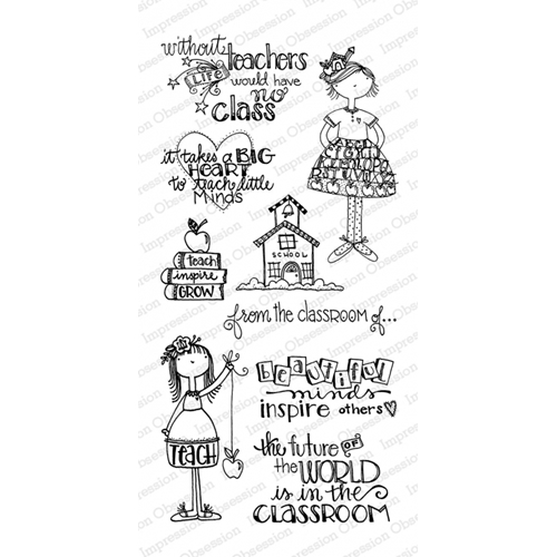 Impression Obsession Clear Stamp IN THE CLASSROOM WP794* Preview Image