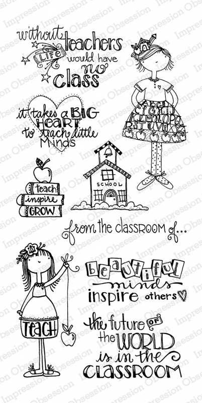 Impression Obsession Clear Stamp IN THE CLASSROOM WP794* zoom image
