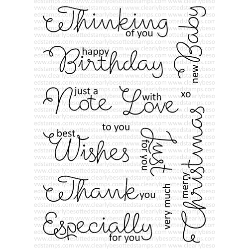 Clearly Besotted SCRUMPTIOUS SCRIPT Clear Stamp Set Preview Image