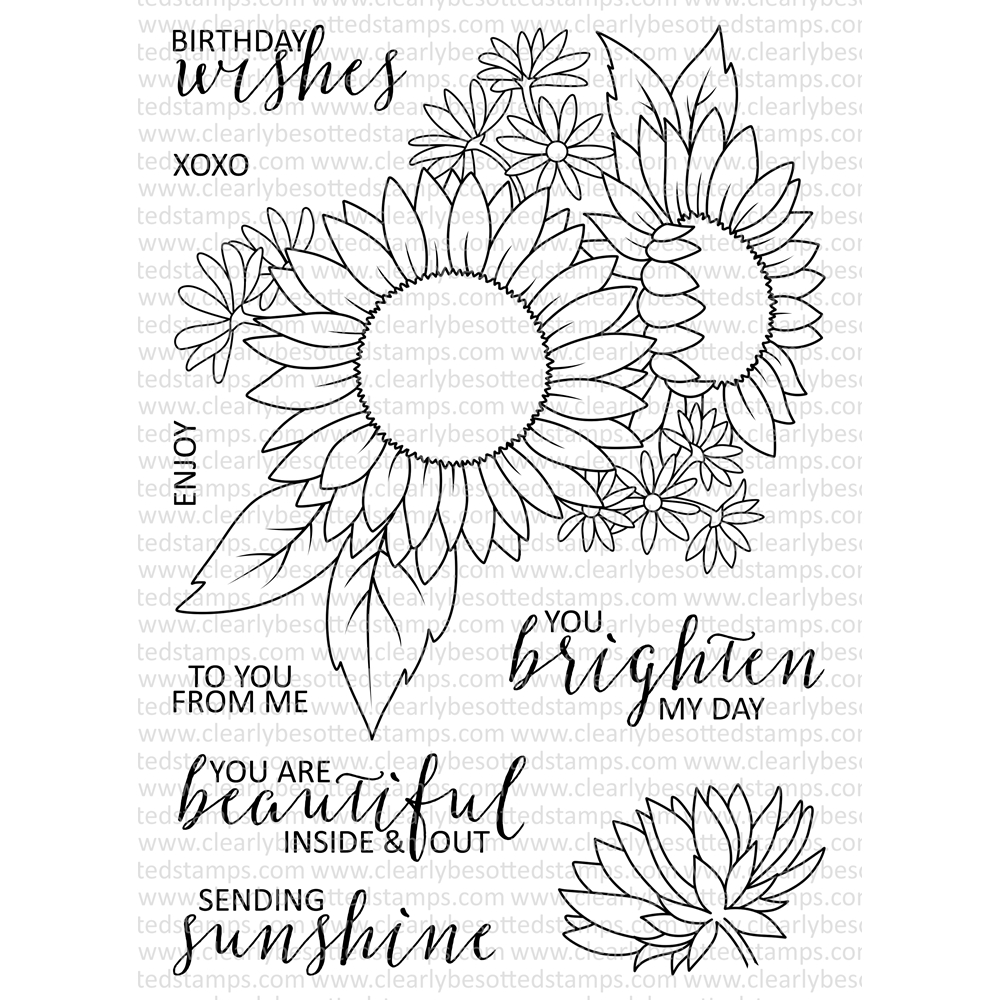 Clearly Besotted SENDING SUNSHINE Clear Stamp Set zoom image