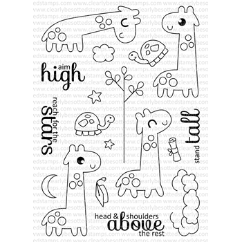 Clearly Besotted STAND TALL Clear Stamp Set