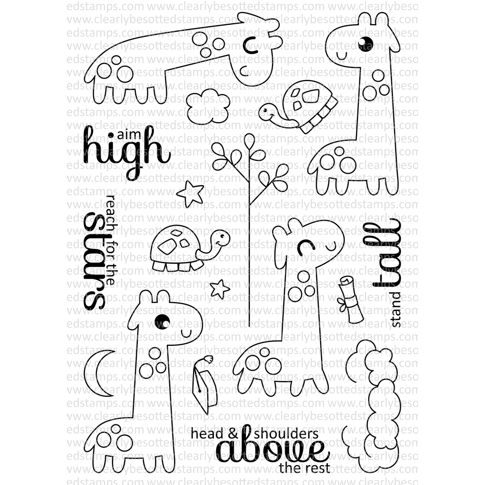 Clearly Besotted STAND TALL Clear Stamp Set  zoom image