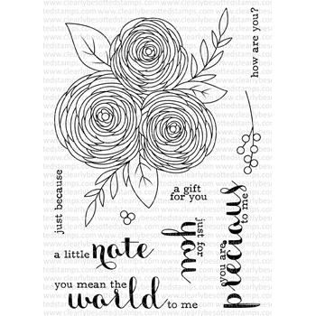 Clearly Besotted JUST FOR YOU Clear Stamp Set