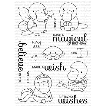 Clearly Besotted PLATYPUS AT PLAY Clear Stamp Set