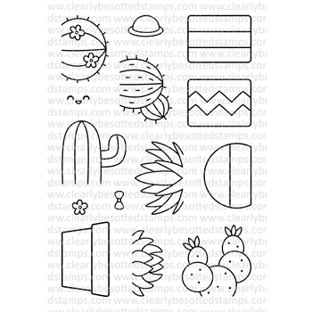 Clearly Besotted SIMPLY SUCCULENT Clear Stamp Set