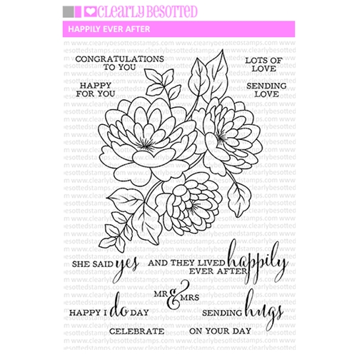 Clearly Besotted HAPPILY EVER AFTER Clear Stamp Set Preview Image