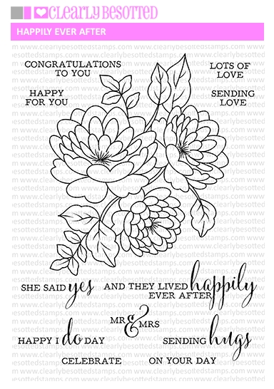 Clearly Besotted HAPPILY EVER AFTER Clear Stamp Set zoom image
