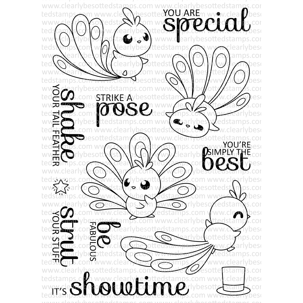 Clearly Besotted STRUT YOUR STUFF Clear Stamp Set zoom image