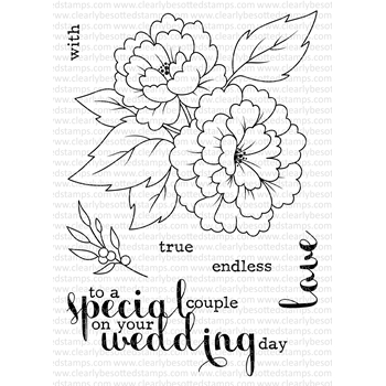 Clearly Besotted ON YOUR DAY Clear Stamp Set