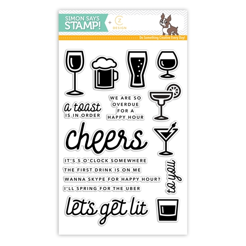 CZ Designs Happy Hour Stamp Set