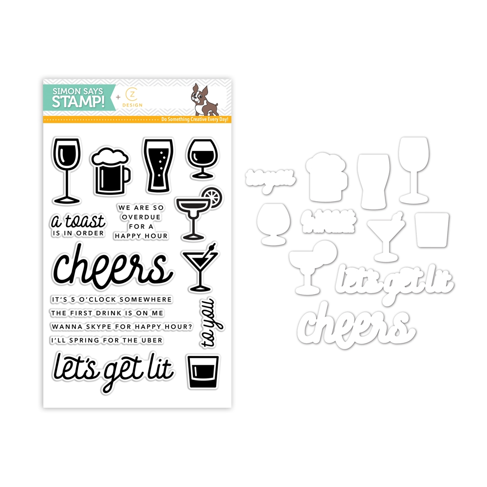 CZ Design Coordinating Set HAPPY HOUR CZSET1 zoom image