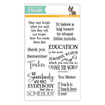 Simon Says Clear Stamps THANK YOU TEACHER SSS101749 Encouraging Words