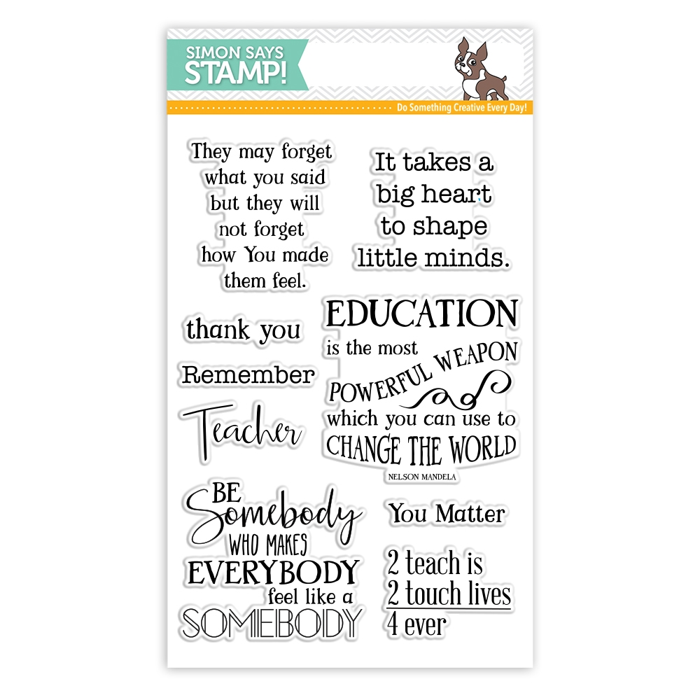 Simon Says Clear Stamps THANK YOU TEACHER