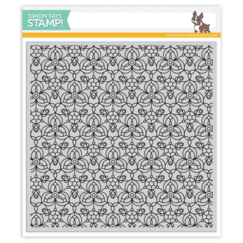 Simon Says Cling Rubber Stamp KALEIDOSCOPE BACKGROUND SSS101759 Encouraging Words