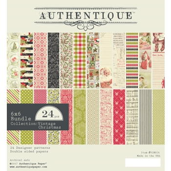 Authentique 6 x 6 VINTAGE CHRISTMAS Paper Pad VIN014