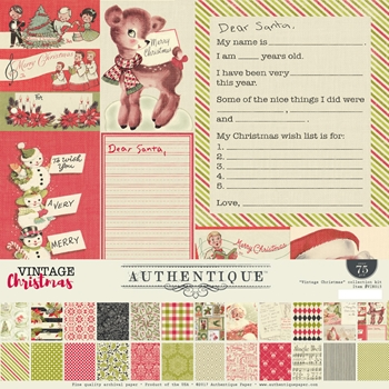 Authentique VINTAGE CHRISTMAS 12 x 12 Collection Kit VIN015