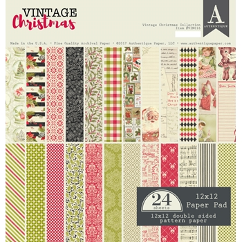 Authentique VINTAGE CHRISTMAS 12 x 12 Paper Pad VIN016