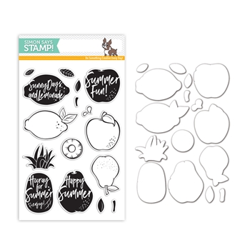 Simon Says Stamps And Dies DANCING FRUITS Set302DF Encouraging Words