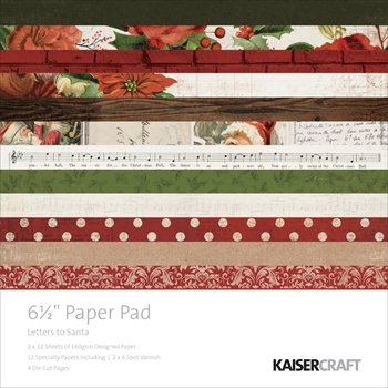 Kaisercraft LETTERS TO SANTA 6.5 x 6.5 Inch Paper Pad PP1028