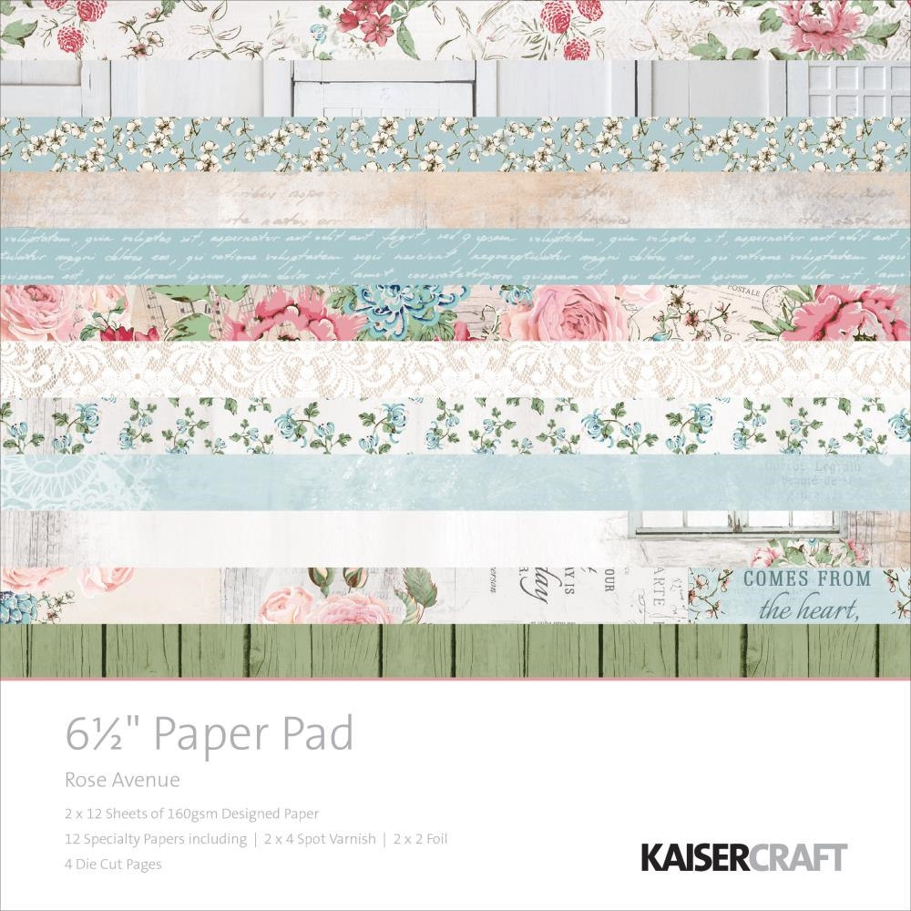 Kaisercraft ROSE AVENUE 6.5 x 6.5 Inch Paper Pad PP1030 zoom image