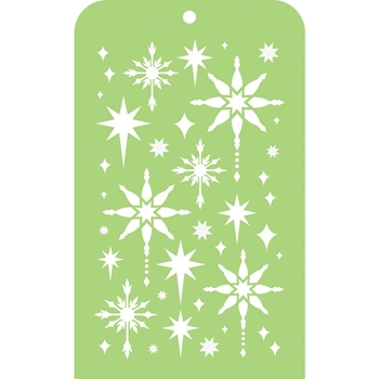 Kaisercraft FANCY STARS Mini Designer Template Stencil IT019