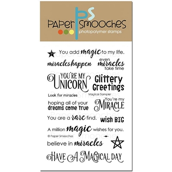 Paper Smooches MAGIC SAMPLER Clear Stamps A2S291