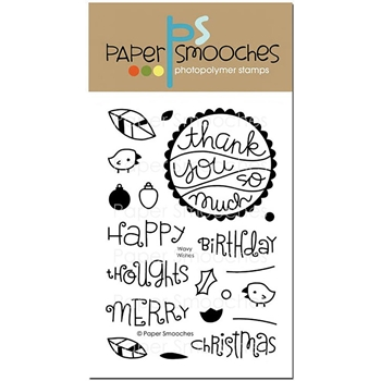 Paper Smooches WAVY WISHES Clear Stamps A2S290